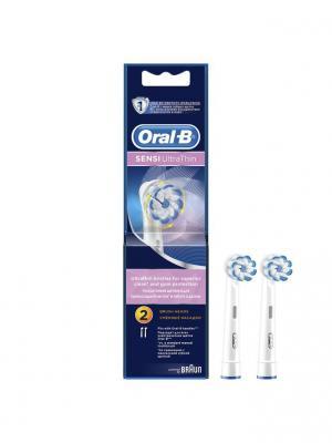 Электрические зубные щётки (POC) Наcадка EB60 Sensi 2 шт Oral-B. Цвет: голубой, белый