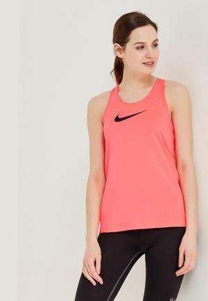 Майка спортивная Nike. Цвет: розовый