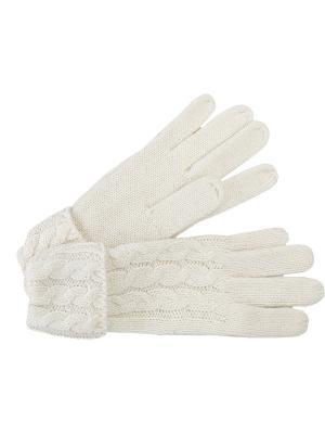 Перчатки J&Elisabeth. Цвет: белый
