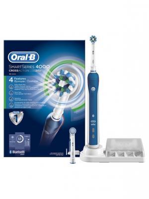 Электрическая зубная щётка Oral-B SmartSeries 4000, синий. Цвет: синий, белый
