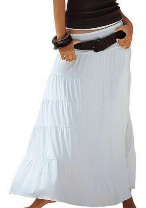 Длинная пляжная юбка BEACHTIME. Цвет: белый