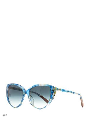 Солнцезащитные очки MI 831S 03 Missoni. Цвет: синий