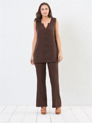 Брюки Fiorella Rubino. Цвет: коричневый