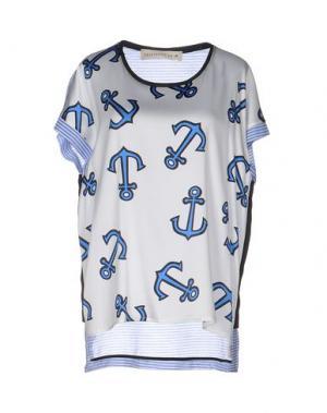 Блузка SHIRTAPORTER. Цвет: синий