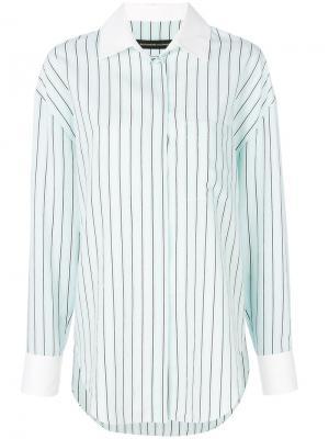 Рубашка в полоску стиле casual Alexandre Vauthier. Цвет: синий