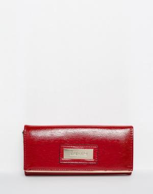 Juno Accessories Лакированный кошелек. Цвет: темно-бордовый