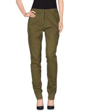 Повседневные брюки ESSENTIEL. Цвет: зеленый-милитари