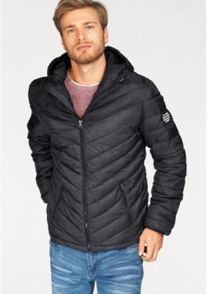 Стеганая куртка JOHN DEVIN. Цвет: черный/темно-серый