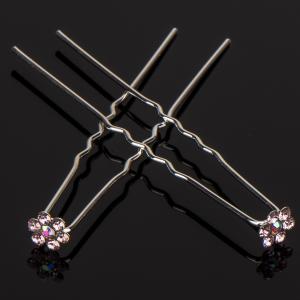 Шпилька для волос, арт. 05 206 Бусики-Колечки. Цвет: розовый
