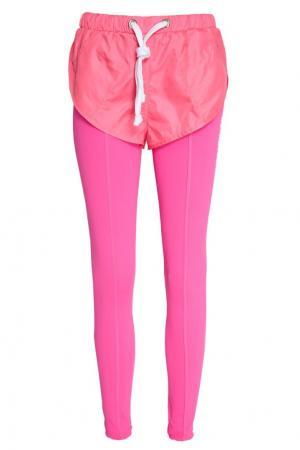 Розовые брюки с шортами Natasha Zinko. Цвет: розовый