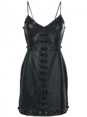Платье мини с заклепками David Koma. Цвет: чёрный