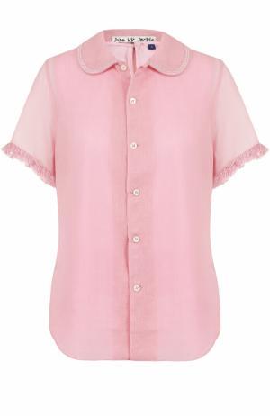 Вязаная блуза из шерсти Jupe by Jackie. Цвет: розовый