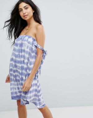 Surf Gypsy Пляжное платье тай‑дай. Цвет: мульти