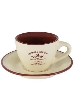 Чашка с блюдцем, 0,2 л TERRACOTTA. Цвет: мультиколор