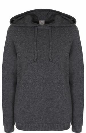 Кашемировый свитер с капюшоном FTC. Цвет: темно-серый