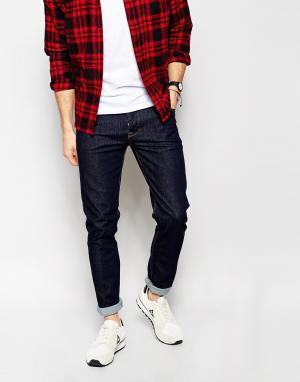 ASOS Синие джинсы скинни. Цвет: синий