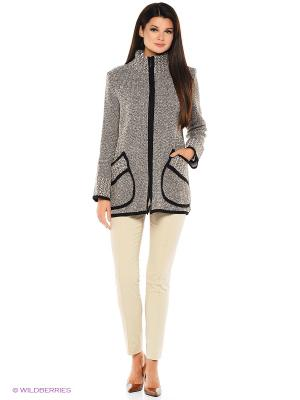 Жакет Milana Style. Цвет: бежевый, серый