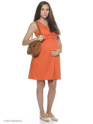 Платье EUROMAMA. Цвет: оранжевый