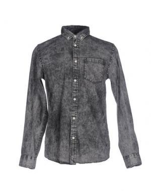 Джинсовая рубашка ORIGINALS by JACK & JONES. Цвет: черный