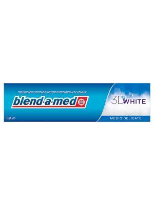 Зубная паста Blend-a-med 3D White Деликатное отбеливание, 100мл BLEND_A_MED. Цвет: синий