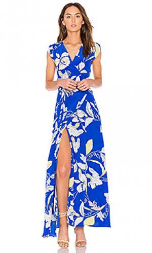 Макси платье swept away Yumi Kim. Цвет: синий