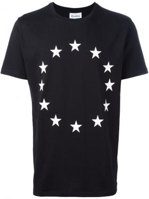 Circular star print T-shirt Études. Цвет: чёрный