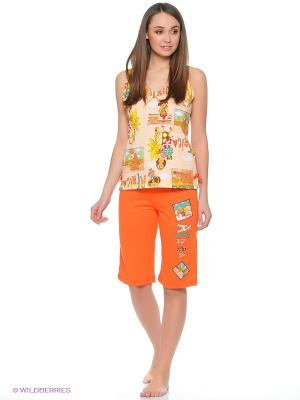 Пижама Cascatto. Цвет: оранжевый