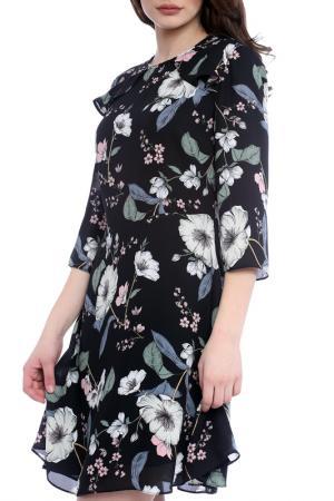 Платье Emma Monti. Цвет: black and floral print