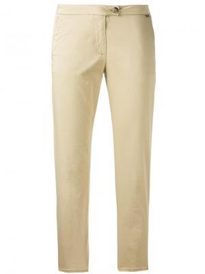 Укороченные брюки кроя слим Woolrich. Цвет: телесный