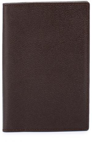 Кожаная обложка для паспорта с отделением кредитных карт Smythson. Цвет: коричневый