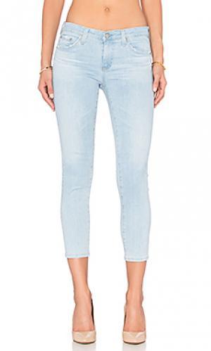 Укороченные джинсы stilt crop AG Adriano Goldschmied. Цвет: none
