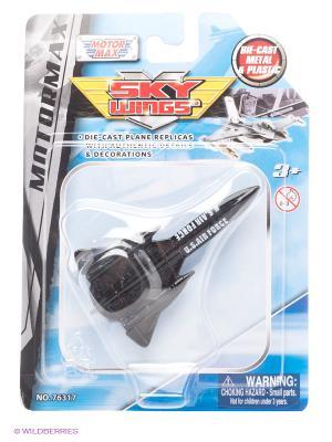 Коллекционная игрушка самолет Blackbird Motormax. Цвет: черный