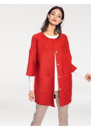 Трикотажное пальто RICK CARDONA by Heine. Цвет: красный
