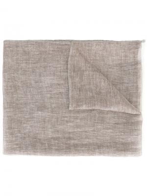 Платок с бахромой Eleventy. Цвет: коричневый