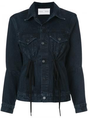 Джинсовая куртка со шнурком PSWL Proenza Schouler. Цвет: серый