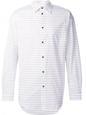 Рубашка в полоску Alexander Wang. Цвет: белый