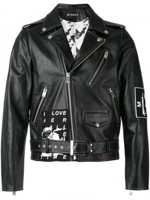 Байкерская куртка WARSZAWA 1980 Misbhv. Цвет: чёрный