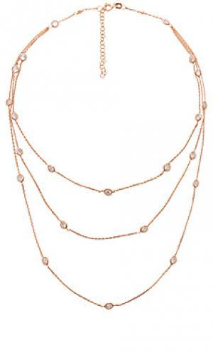 3-слойное ожерелье с подвесами joolz by Martha Calvo. Цвет: металлический медный