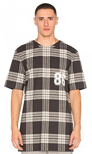 Свободная студенческая футболка Helmut Lang. Цвет: черный