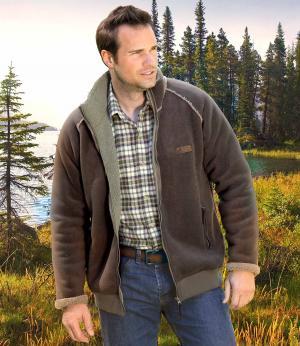 Флисовая Куртка AFM. Цвет: коричневыи