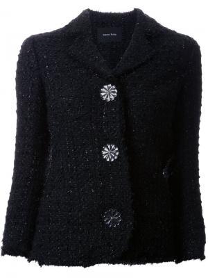 Твидовый пиджак Simone Rocha. Цвет: чёрный