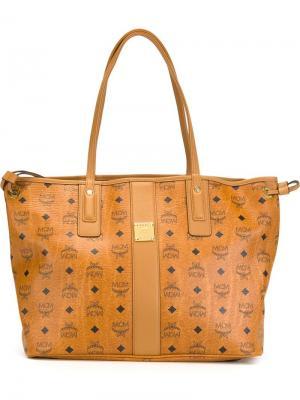 Средняя сумка-тоут Liz Vestos MCM. Цвет: телесный