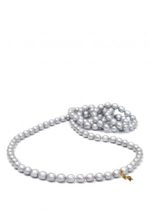 Ожерелье 182010 Nasonpearl. Цвет: серый