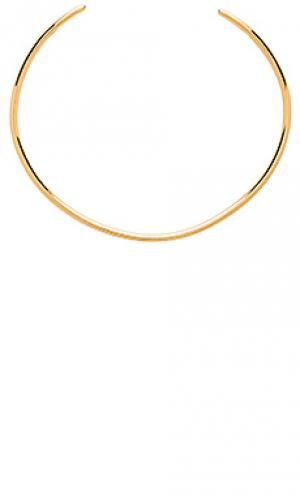 Ожерелье-воротник emma gorjana. Цвет: металлический золотой