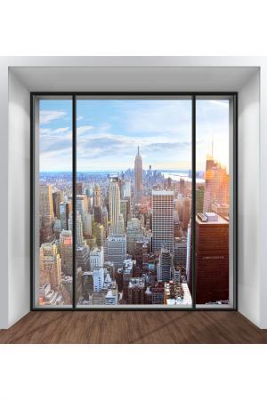 Обои Окно на Нью-Йорк 250х270 Chernilla. Цвет: голубой