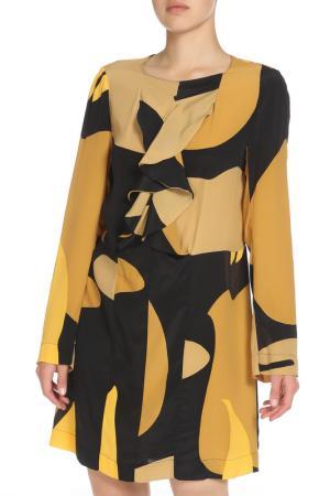 Платье Marni. Цвет: черно-желтый