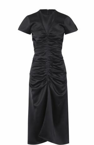 Приталенное платье-миди с драпировкой Isabel Marant. Цвет: черный