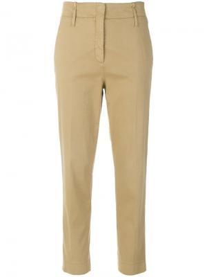 Укороченные брюки с высокой талией Luisa Cerano. Цвет: коричневый