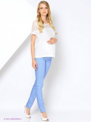 Брюки для беременных 40 недель. Цвет: голубой
