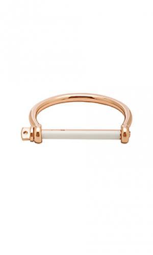 Эмалированный браслет на закрутке Miansai. Цвет: металлический золотой